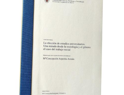 Tesis doctoral Marichu Azpeitia